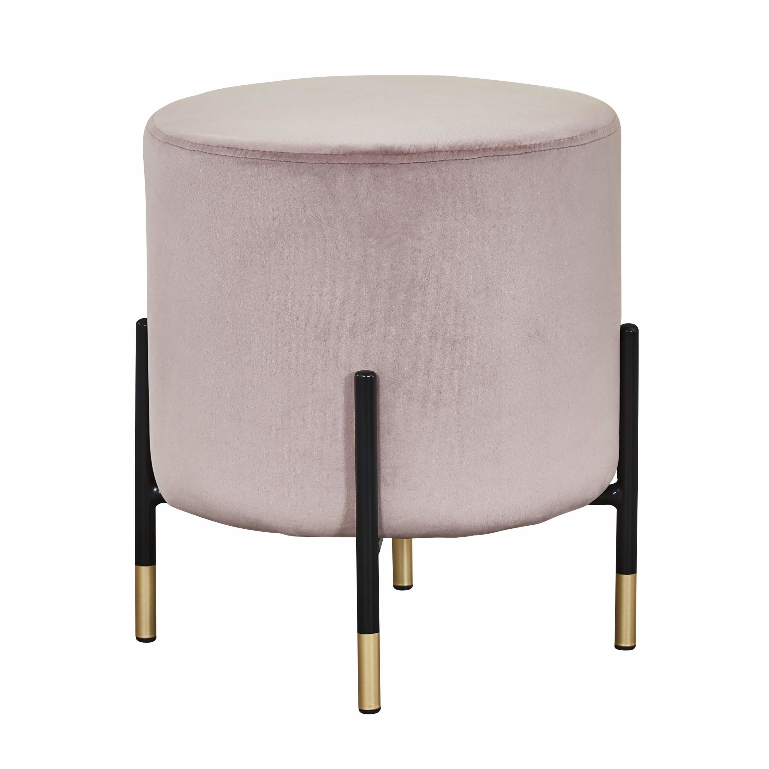 Picture of: Velvet Footstool Pouffe Pink Yoshion Europe